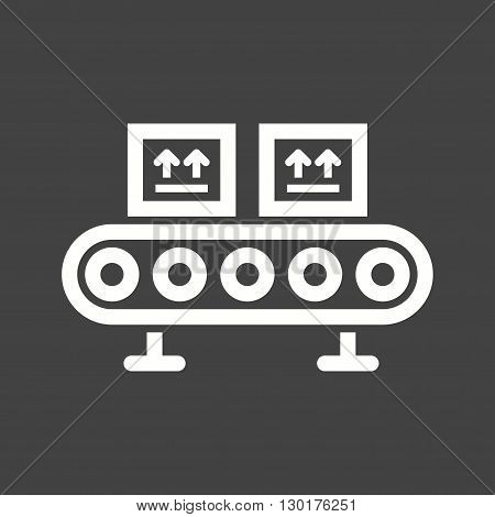 Line, factory, assembly icon vector image. Can also be used for logistics. Suitable for mobile apps, web apps and print media.