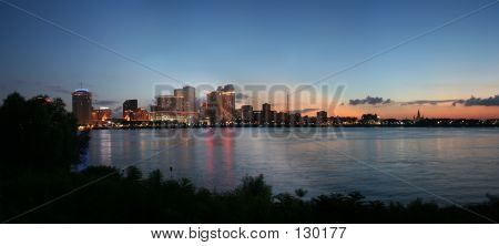 New Orleans Cityscape At Sunset