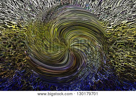 Colourful Blue Twist Line Shape Pattern Abstract Dimension Modern Background