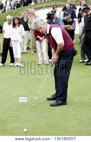 Michael Douglas at the Ninth Annual Michael Douglas & Friends Celebrity Golf Tournament held at the Trump National Golf Club in Rancho Palos Verdes, USA on April 29, 2007.