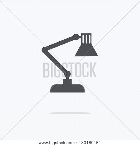 Table lamp. Icon table lamp. Vector illustration.