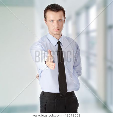 Young business man ready to set a deal