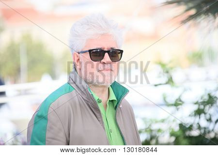 Director Pedro Almodovar attends the 'Julietta' Photocall during the 69th annual Cannes Film Festival at the Palais des Festivals on May 17, 2016 in Cannes, France.
