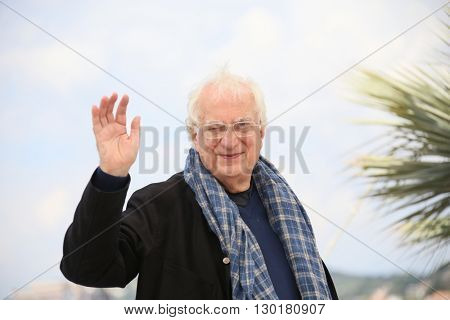 Director Bertrand Tavernier attends the 'Personal Shopper' photocall during the 69th annual Cannes Film Festival at the Palais des Festivals on May 17, 2016 in Cannes, France.