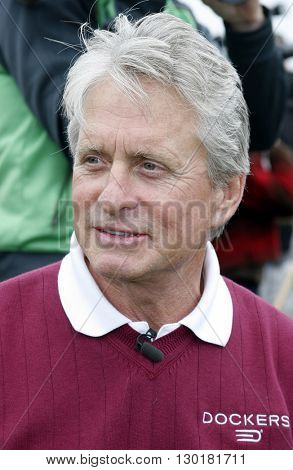 Michael Douglas at the 9th Annual Michael Douglas & Friends Celebrity Golf Tournament held at the Trump National Golf Club in Rancho Palos Verdes, USA on April 29, 2007.