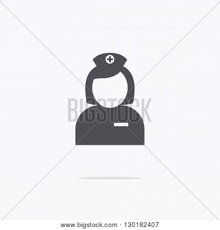 Nurse. Icon nurse on a light background. Vector illustration.