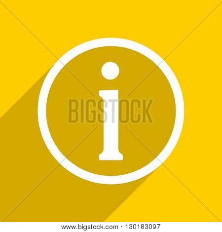 yellow flat design information web modern icon for mobile app and internet