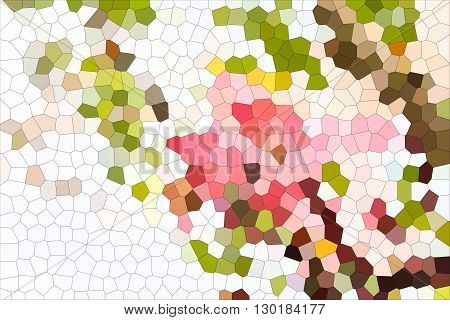 Simply White And Colourful Natural Pink Green Brown For Abstract Background