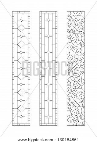 Options for decorative patterns stained glass partitions