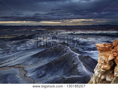 Moonscape Overlook in Utah desert, USA