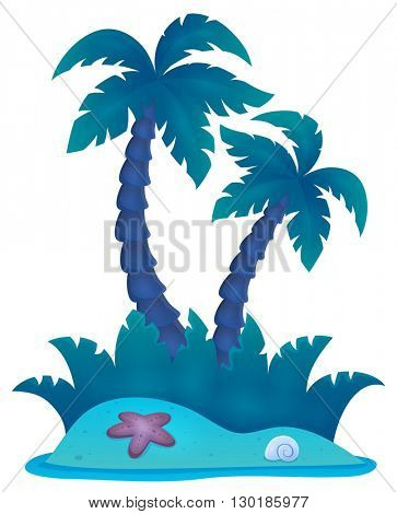 Tropical island theme image 4 - eps10 vector illustration.