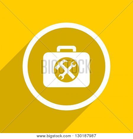 yellow flat design toolkit web modern icon for mobile app and internet