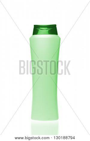 cosmetic bottle isolated on white background