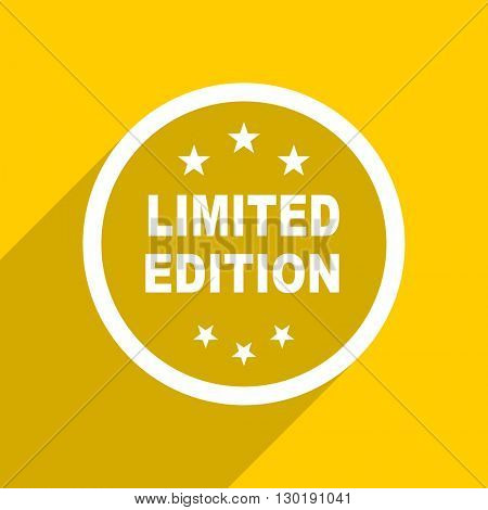 yellow flat design limited edition web modern icon for mobile app and internet
