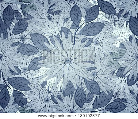 Floral Seamless Blue Pattern Ornament Jpg Format