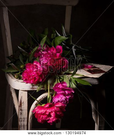 Artistic Still Life With Peonies