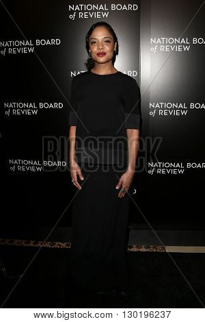 NEW YORK-JAN 5: Actress Tessa Thompson attends the 2015 National Board of Review Gala at Cipriani 42nd Street on January 5, 2016 in New York City.