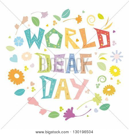 A simple floral illustration to observe World Deaf Day