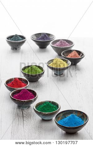 Colorful Holi Powder Creatively Fading