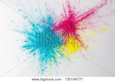 Color Explosion Concept With Holi Powder
