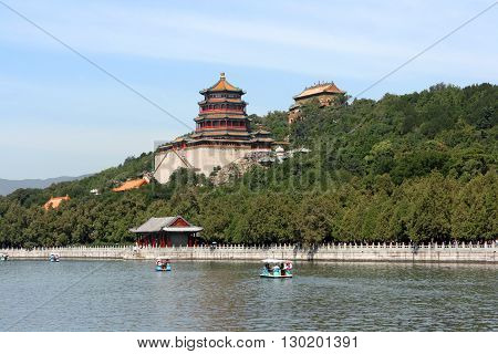 Beijing. China. - August 20, 2009: Summer Palace. Longevity Hill in August 20, 2009 in Beijing. China