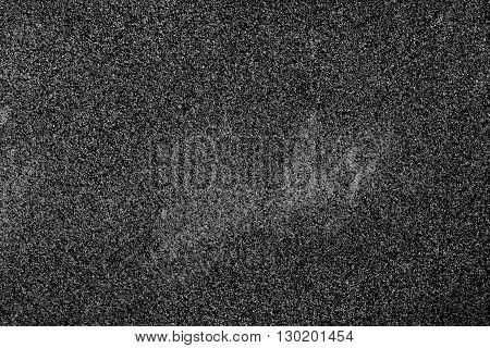 Close up black sand texture background, horizontal