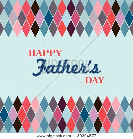 Argyle pattern with the text Happy Fathers day
