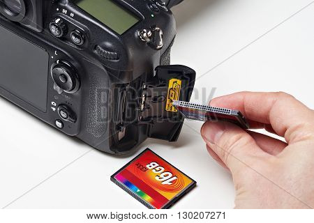 Flash Card Cf And Dslr Camera