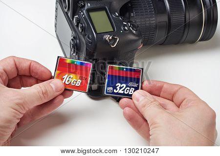 Flash Cards Cf And Dslr Camera