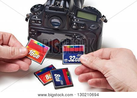 Flash Cards Cf And Dslr Camera