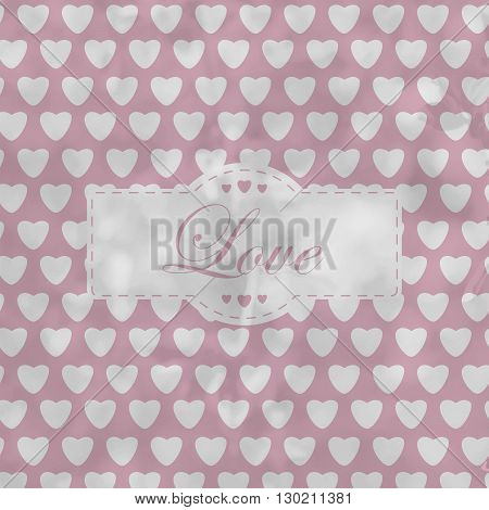 Retro Background With White Hearts