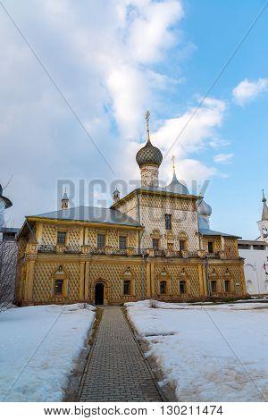 Church of the Mother of God in the Kremlin in Rostov Velikiy, Russia