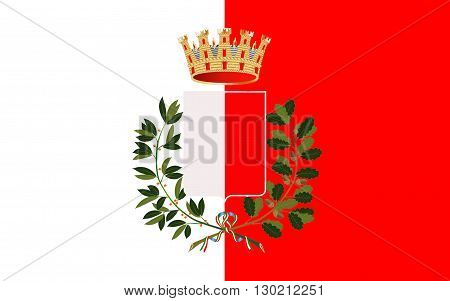 Flag of Bari is the capital city of the Metropolitan City of Bari and of the Apulia region on the Adriatic Sea in Italy