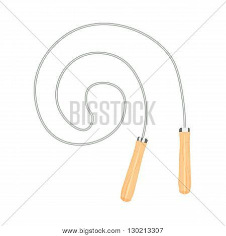 skipping rope vector illustration isolated on a white background
