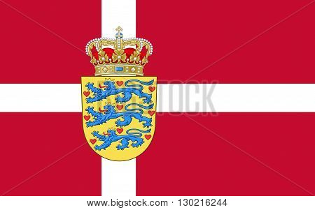 Flag of Denmark is a Scandinavian country in Europe. The southernmost of the Nordic countries