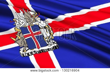Flag of Iceland - Adopted 17th June 1944 the day Iceland became a republic.