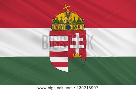 Flag of Hungary is a sovereign state in Europe. It is situated in the Carpathian Basin