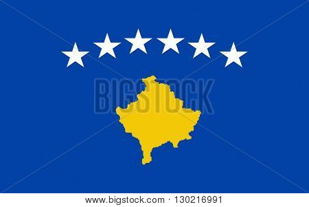 Flag of Kosovo is a disputed territory and partially recognised state in Southeast Europe that declared independence from Serbia in 2008 as the Republic of Kosovo.