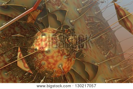 Abstract Geometric Composition Made In 3D Software
