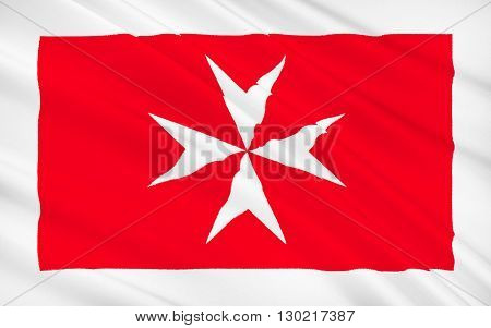 Flag of Malta - A representation of the George Cross awarded to Malta by Britains King George VI in 1942 is in the top left corner of the flag