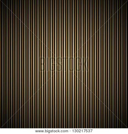Golden Stripe  On The Dark Background
