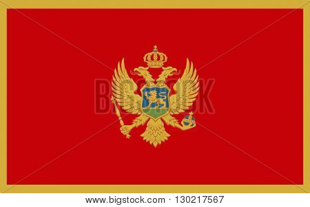 Flag of Montenegro is a sovereign state in Southeastern Europe