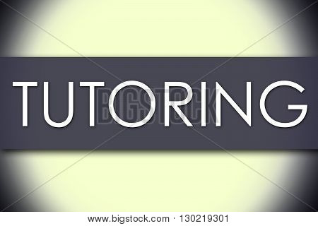 Tutoring - Business Concept With Text