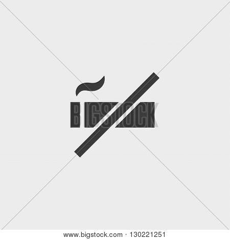 No smoking icon in black color. Vector illustration eps10