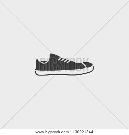 Shoe icon in black color. Vector illustration eps10