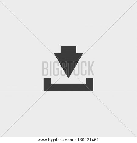 Download Icon in black color. Vector illustration eps10