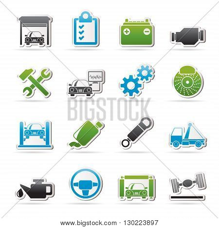 Car service maintenance icons - vector icon set