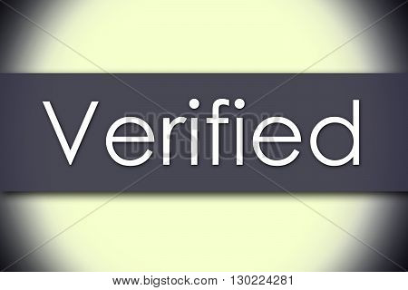 Verified - Business Concept With Text