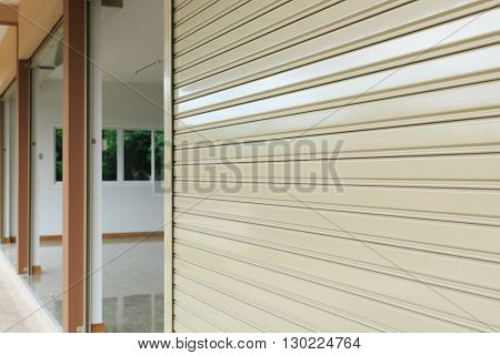Roller Shutter Door In Warehouse Building