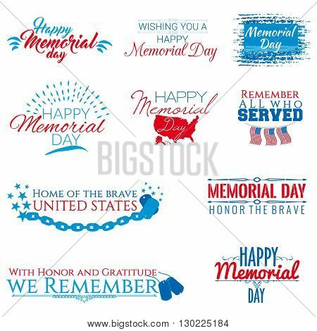 A collection of ten banners on Memorial day